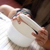 陶瓷碗 帶蓋微波爐碗骨瓷唐山簡奧骨質瓷保鮮碗大號泡面碗 生日禮物