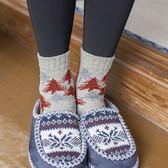 靴下物保暖中筒襪秋冬加厚日系聖誕襪子女韓國百搭復古彩點棉襪潮  電購3C