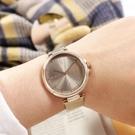 TOMMY HILFIGER / 1782208 / 極簡時尚 優雅迷人 礦石強化玻璃 米蘭編織不鏽鋼手錶 鈦色x鍍香檳金 34mm