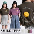 限量現貨◆PUFII-上衣 日常SMILE字母短袖上衣-0611 現+預 夏【CP18721】