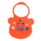 【佳兒園婦幼館】Creative Baby 可收納式攜帶防水無毒矽膠學習圍兜-活力寶貝