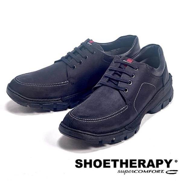 【南紡購物中心】SAPATOTERAPIA 巴西舒適綁帶有機休閒鞋-黑