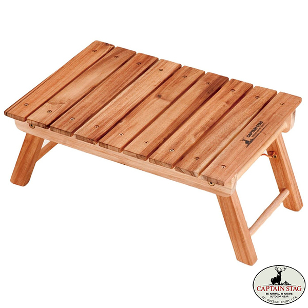 [CAPTAIN STAG] 鹿牌 小木桌45 (UP-1006) 秀山莊戶外用品旗艦店