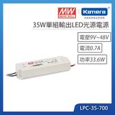 明緯 35W單組輸出LED光源電源(LPC-35-700)