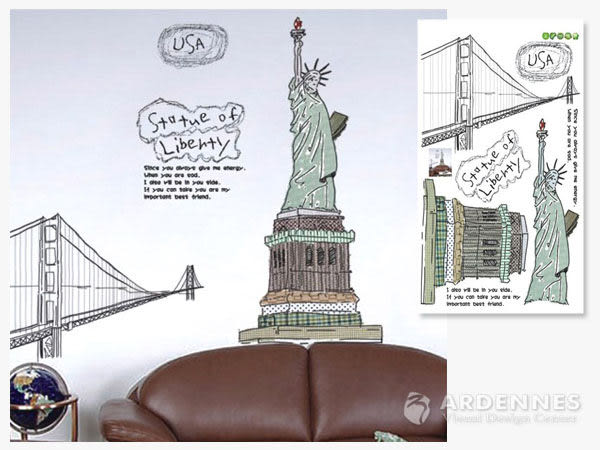 【ARDENNES】創意組合DIY壁貼/牆貼/兒童教室佈置/可重複貼 美國自由女神