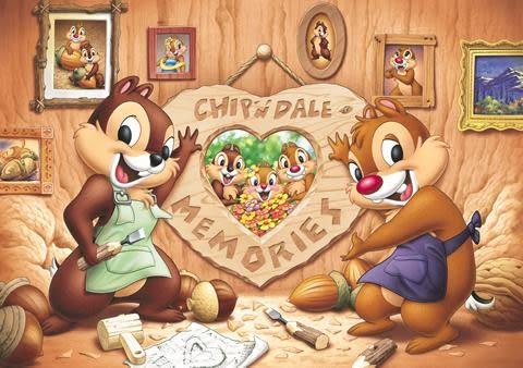 【拼圖總動員 PUZZLE STORY】Disney-奇奇蒂蒂的回憶 日系/Tenyo/迪士尼/200P/相框拼圖