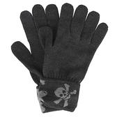 Vivienne Westwood 骷髏行星毛線反摺針織手套(黑灰色)910561-1