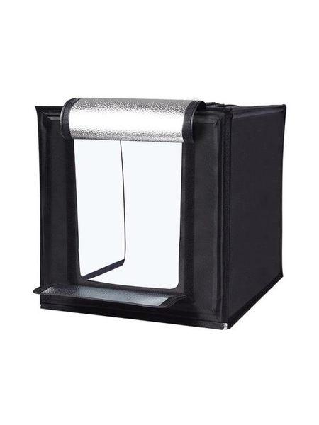 攝影棚 60cm大號攝影棚小型攝影拍照燈箱折疊套裝柔光背景箱簡易拍攝臺道具補光燈