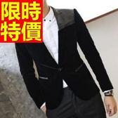 西裝外套 男西服(單外套)-休閒日系氣質新款4色59t39【巴黎精品】