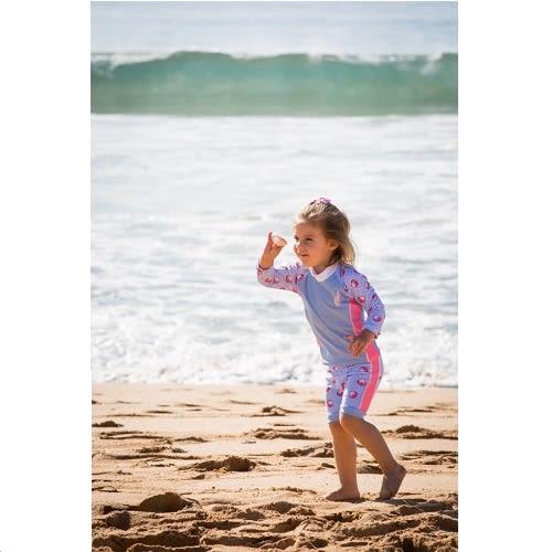 兒童泳衣 寶寶二件式泳衣★最新款海貝殼系列★ Xtra life 萊卡 澳洲鴨嘴獸 抗UV UPF 50+  0-2歲