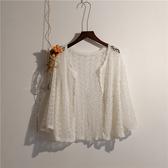 2018夏季新款短外套小披肩薄款女鉤花鏤空針織開衫夏季短款空調衫