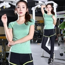瑜珈服 夏季新款舞蹈服運動戶外跑步健身瑜珈服短袖瑜伽服上衣女 16【618特惠】