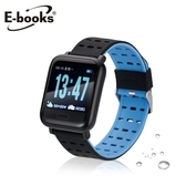 E-books V10 藍牙防水大錶面運動手錶黑
