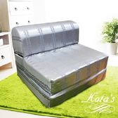 【KOTAS】尊爵緹花彈簧沙發床 椅(單人三尺)-銀灰