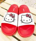 【震撼精品百貨】Hello Kitty 凱蒂貓~台灣製正版成人防水拖鞋-紅白(35~40號)#19233