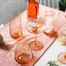 雞尾酒杯 北歐風INS描金水晶玻璃高腳杯紅酒杯家用葡萄酒雞尾酒大肚甜品杯