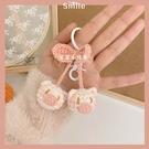 小豬鑰匙扣材料包可愛櫻桃粉色手工diy毛線編織孕期打發時間 pinkq時尚女裝