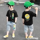 男童夏裝套裝韓版1-8歲兒童夏季3衣服4小童帥氣潮6寶寶短袖2夏天5