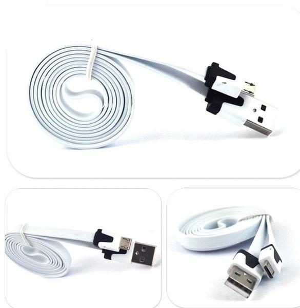 現貨 安卓彩色麵條數據線 一米安卓扁平Micro USB充電線【Mr.1688先生】