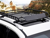 車頂行李框筐科帕奇漢蘭達翼虎銳界途觀SUV汽車車載行李貨架通用 亞斯藍