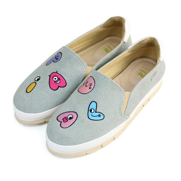 Paidal小怪獸字母輕運動休閒鞋樂福鞋懶人鞋