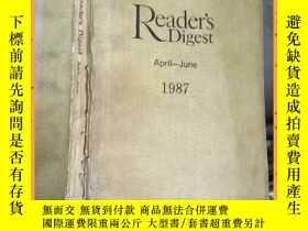 二手書博民逛書店英文書罕見readers digest april -june 1987 讀者文摘1987年4月至6月Y163