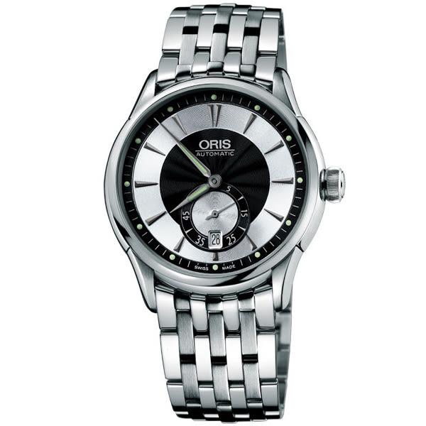 ORIS 豪利時 Artelier 小秒針經典機械錶-黑/40 mm 0162375824054-0782173