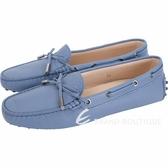 TOD'S Gommino 經典綁帶休閒豆豆鞋(女鞋/薄霧藍) 1820081-23
