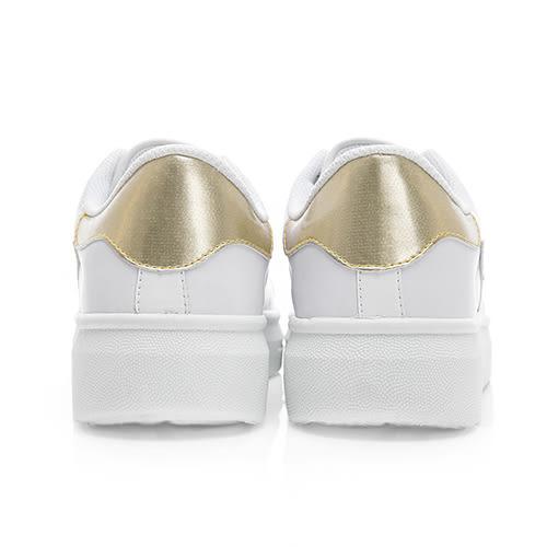 PLAYBOY 簡約仿皮綁帶休閒鞋-白金