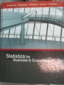 【書寶二手書T3/原文書_HMU】Statistics for Business & Economics_And