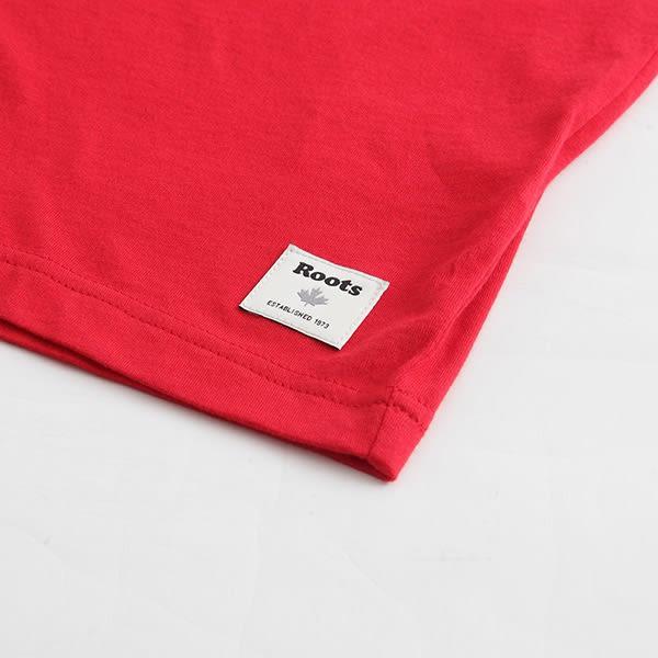 Roots-男裝-ROOTS 反光海狸長袖T恤 - 紅色