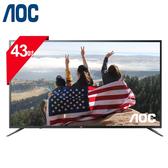 [AOC 美國品牌]43吋 4K HDR窄邊框液晶顯示器 43U6092