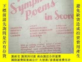 二手書博民逛書店民國鋼琴譜罕見famous symphonic poems in