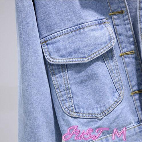 牛仔外套牛仔外套女春秋季新款潮韓版學生寬鬆百搭薄款bf夾克短款上衣 JUST M