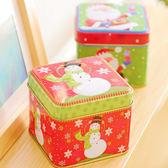 【BlueCat】復古歐風黃色調立體聖誕物語方形鐵盒/禮物盒