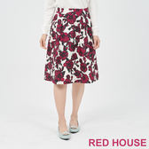 RED HOUSE-蕾赫斯-印花打褶裙(紫色)