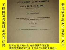 二手書博民逛書店民國罕見CONTRIBUCION AL CONOCIMIENTO DE LA FLORA FOSIL DE BAR