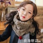 兒童秋冬季圍巾男童女童韓版針織毛線保暖寶寶套頭圍脖毛球加厚潮『快速出貨』