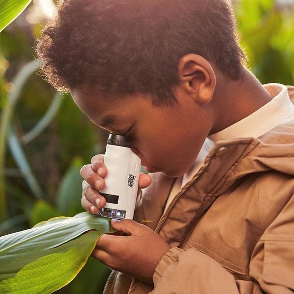 電子顯微鏡 兒童電子顯微鏡家用科學實驗便攜式學生專用超高清光學顯微放大鏡 阿薩布魯