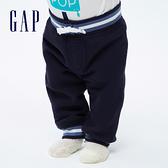 Gap嬰兒 簡約風格撞色邊針織褲 618780-海軍藍
