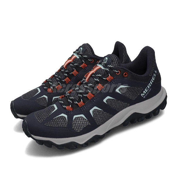Merrell 戶外鞋 Fiery GTX Gore-Tex 藍 灰 女鞋 登山鞋 防水 耐磨 【ACS】 ML99684