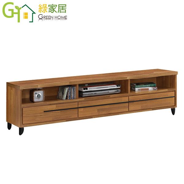 【綠家居】艾辛那 時尚6尺木紋雙色三抽長櫃/視聽櫃