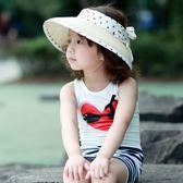 兒童帽子 寶寶帽子夏天女童太陽帽韓版春款空頂帽親子遮陽帽兒童沙灘帽草帽 歐萊爾藝術館