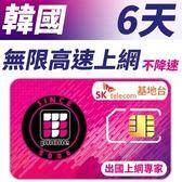 【TPHONE上網專家】韓國 高速上網卡 6天無限上網吃到飽-使用當地SK最大電信基地台