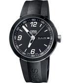 ORIS 豪利時 TT1 Day Date 陶瓷極速機械手錶-黑/橡膠 0173576514174-0742506