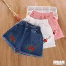 兒童短褲女2020夏季童裝女童外穿超短褲子時尚純棉流蘇牛仔褲洋氣 店慶降價