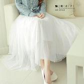 【QV2462】魔衣子-高腰網紗大擺蓬蓬長裙
