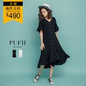 限量現貨★PUFII-洋裝 不規則棉麻洋裝-0425 現+預 春【CP16542】