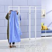 醫用屏風隔斷遮擋診所醫院推拿美容客廳布藝摺屏摺疊鐵藝行動  ATF『極客玩家』