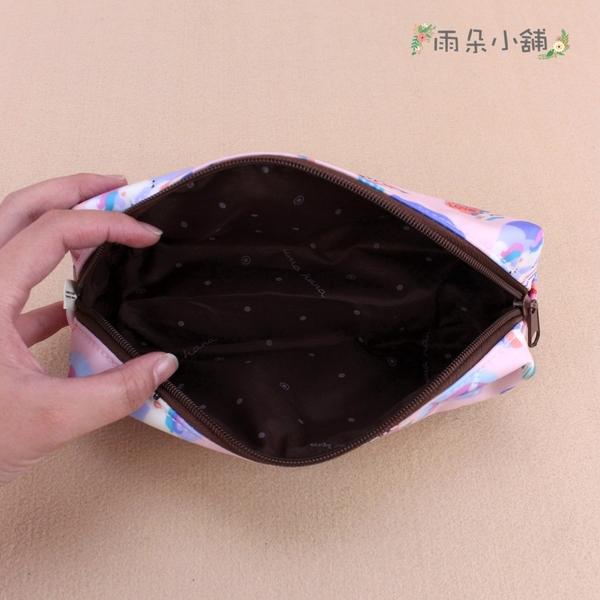 筆袋 包包 防水包 雨朵小舖 Z-91-644 大四角筆袋-黑心花朵朵19297 uma hana
